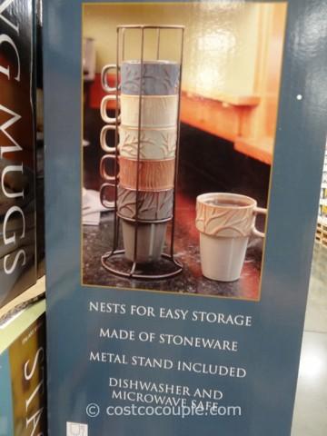 Ceramic Stacking Mug Set
