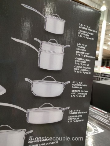 Kirkland Signature 13 Piece Stainless Steel Tri Ply Clad Cookware Set