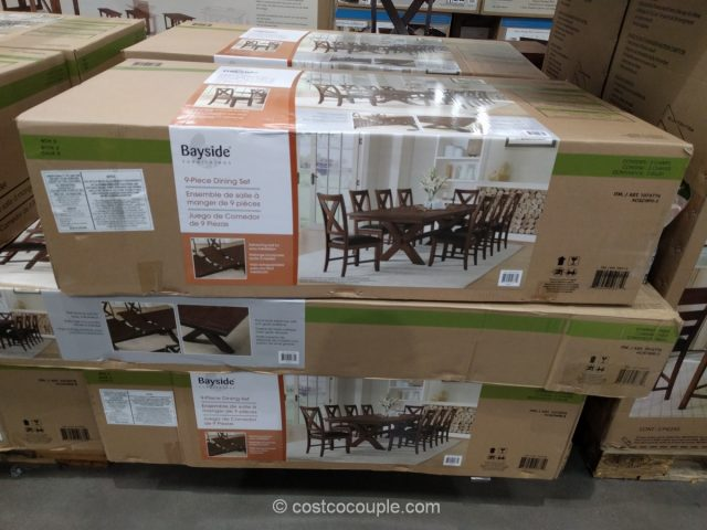 Bayside Furnishings 9 Piece Dining Set