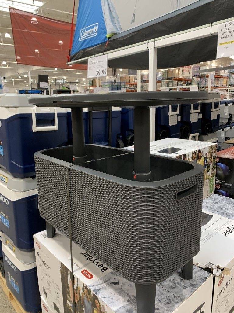 costco bevy bar keter table cooler