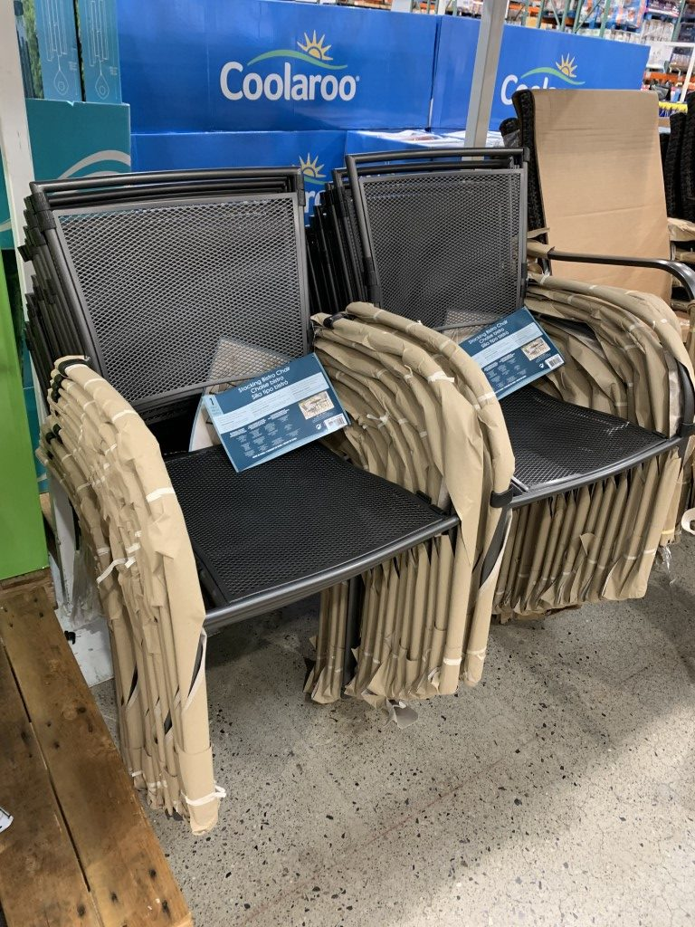 costco patio chairs stackable outdoor
