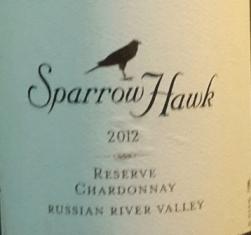 Sparrow Hawk 2012 Reserve Chardonnay