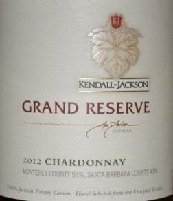 2012 Kendall Jackson Grand Reserve Chardonnay