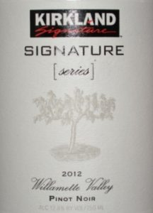 2012 Kirkland Willamette Valley Pinot Noir