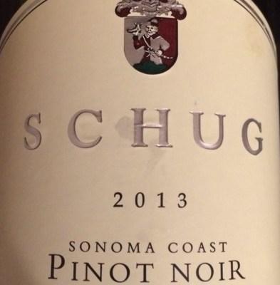 2013 Schug Sonoma Coast Pinot Noir