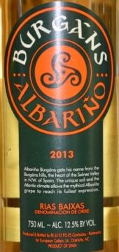 2013 Burgans Albarino Rias Baixas