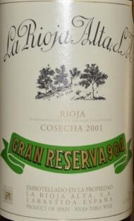 2001 La Rioja Alta Gran Reserva 904