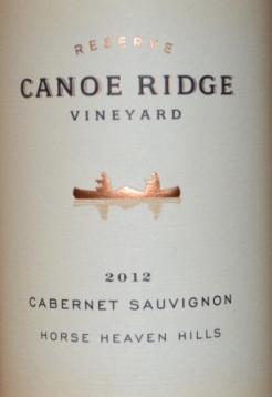 2012 Canoe Ridge Reserve Cabernet Sauvignon