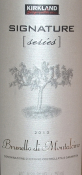 2010 Kirkland Signature Series Brunello di Montalcino