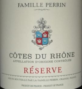 2012 Famille Perrin Cotes Du Rhone Reserve