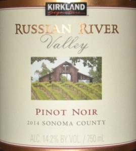 2014 Kirkland Signature Russian River Pinot Noir