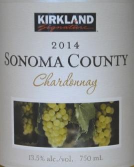 2014 Kirkland Signature Sonoma Chardonnay