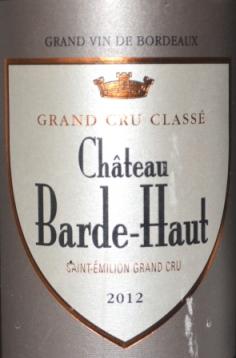 2012 Chateau Barde-Haut Saint-Emilion Grand Cru