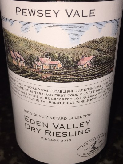Pewsey Vale Eden Valley Dry Riesling 2015