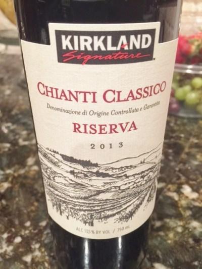 2013 Kirkland Signature Chianti Classico Riserva