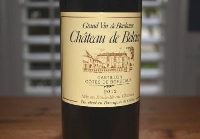 2012 Chateau de Belcier Castillon Cotes de Bordeaux