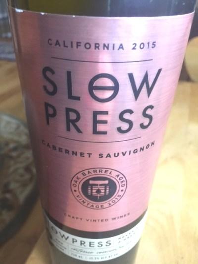 2015 Slow Press California Cabernet