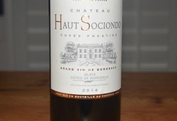 2014 Chateau Haut Sociondo Bordeaux