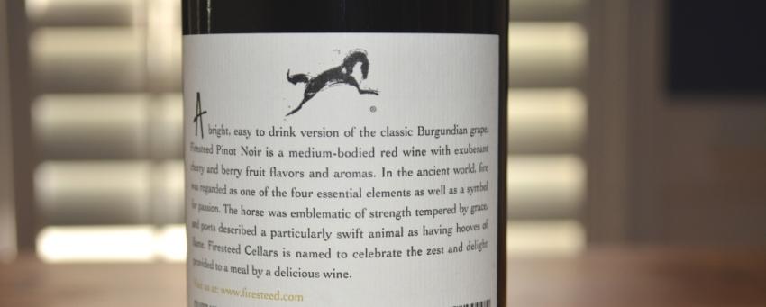 2015 Firesteed Pinot Noir Willamette Valley