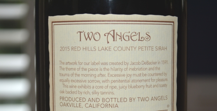 2015 Two Angels Petite Sirah