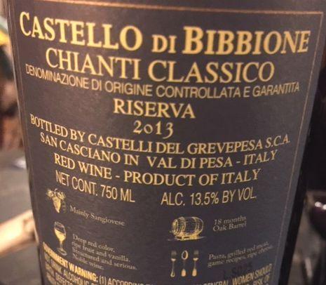 2013 Castello di Bibbione Chianti Classico Riserva
