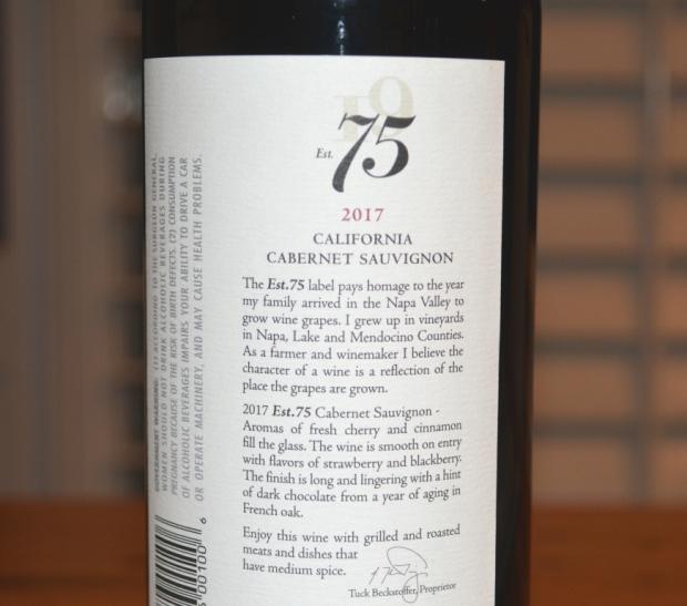 2017 Est 75 Cabernet Sauvignon
