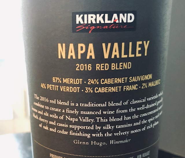 2016 Kirkland Napa Valley Red Blend