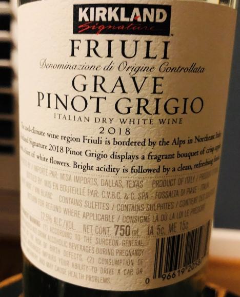 Kirkland Pinot Grigio