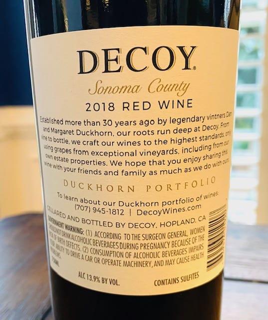 Decoy Red Wine