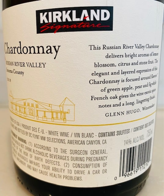 Kirkland Russian River Chardonnay