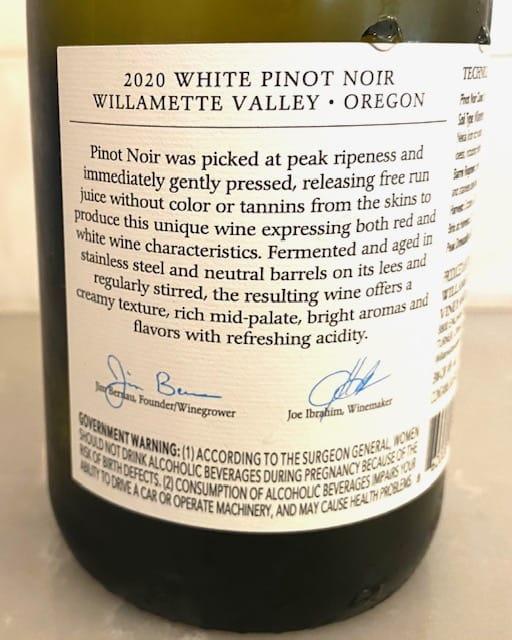 Willamette Valley Vineyards White Pinot Noir