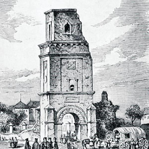 Turnul Colței afectat