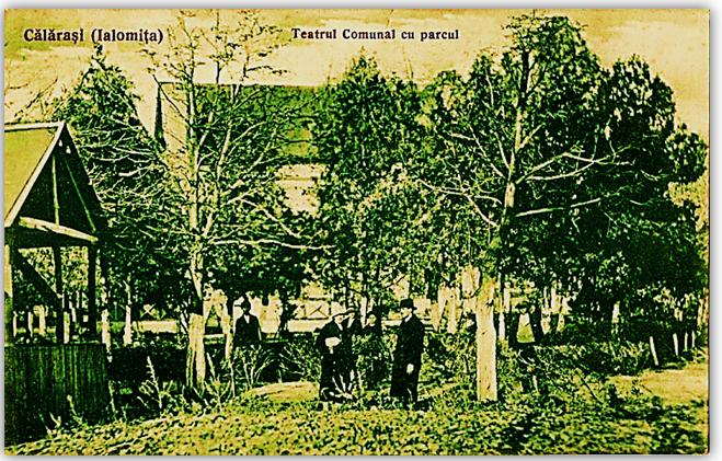 Teatrul din parc 1927 Carte postala Ahil P. Calarasi