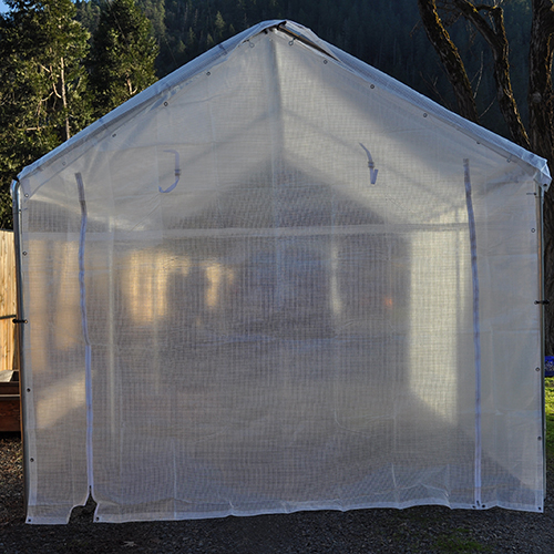 14 Foot Wide Replacement Greenhouse Solid End Panel