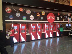 Several Coca-Cola dispensers