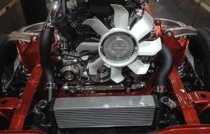Car fans and engine