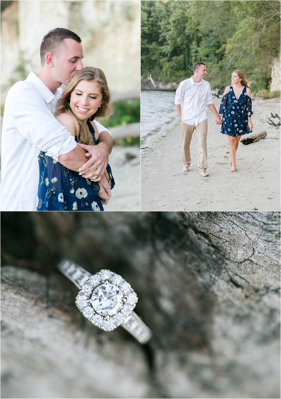 calvert cliffs engagement session southern Maryland
