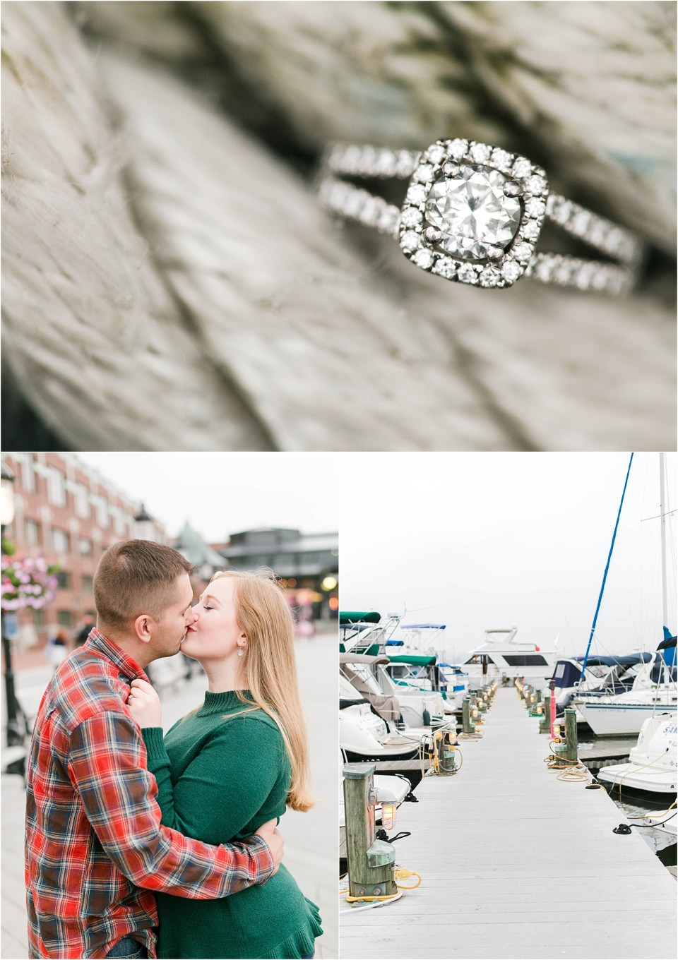 Old Town Alexandria Virginia Engagement Photo