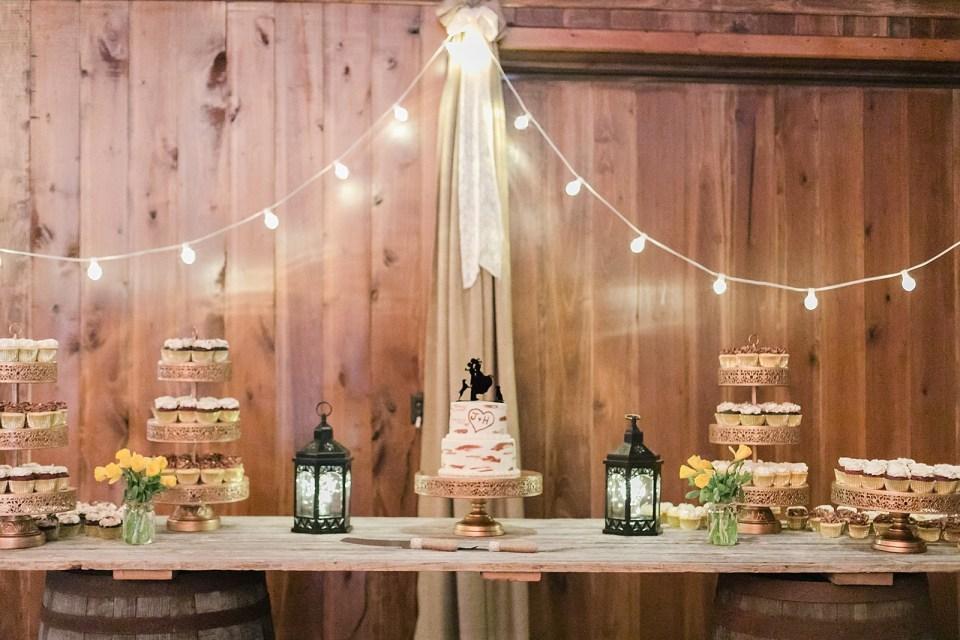 Spring Bowles Farm Wedding reception