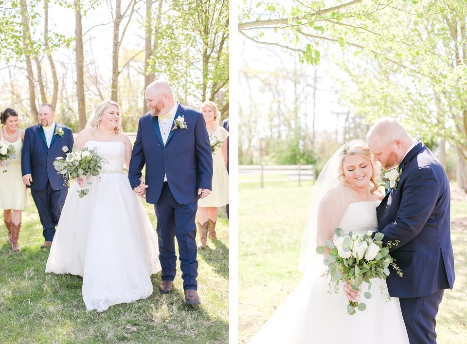 Spring Bowles Farm Wedding bride and groom