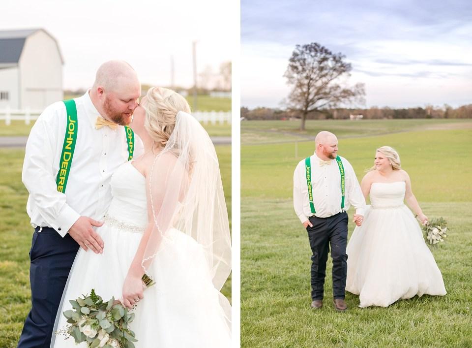 Spring Bowles Farm Wedding bride and groom