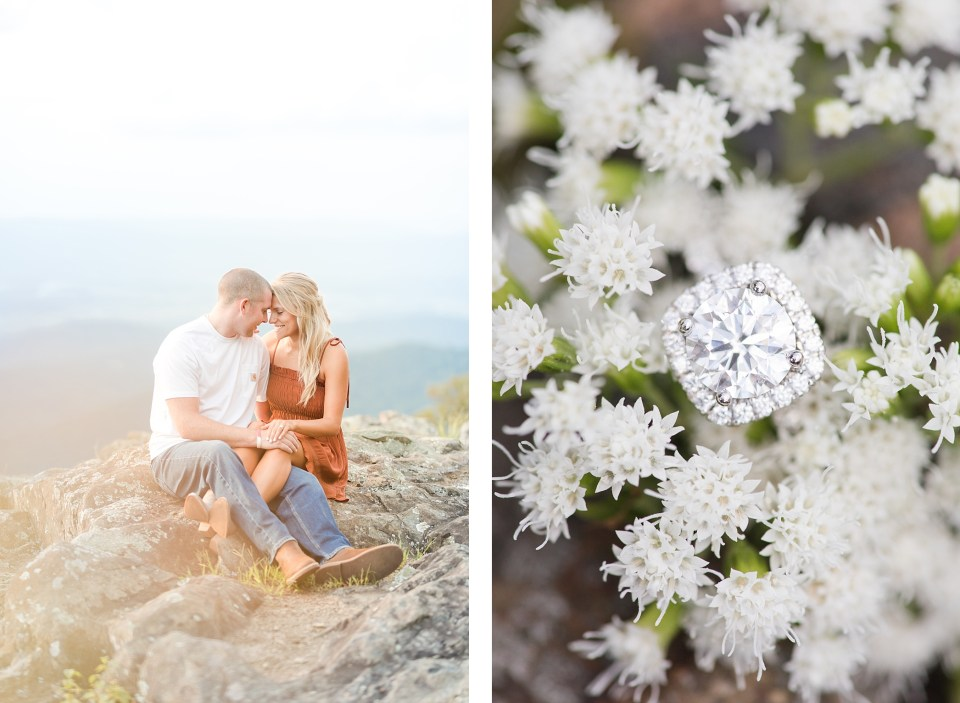 Charlottesville Mountain Engagement Session Skyline Drive