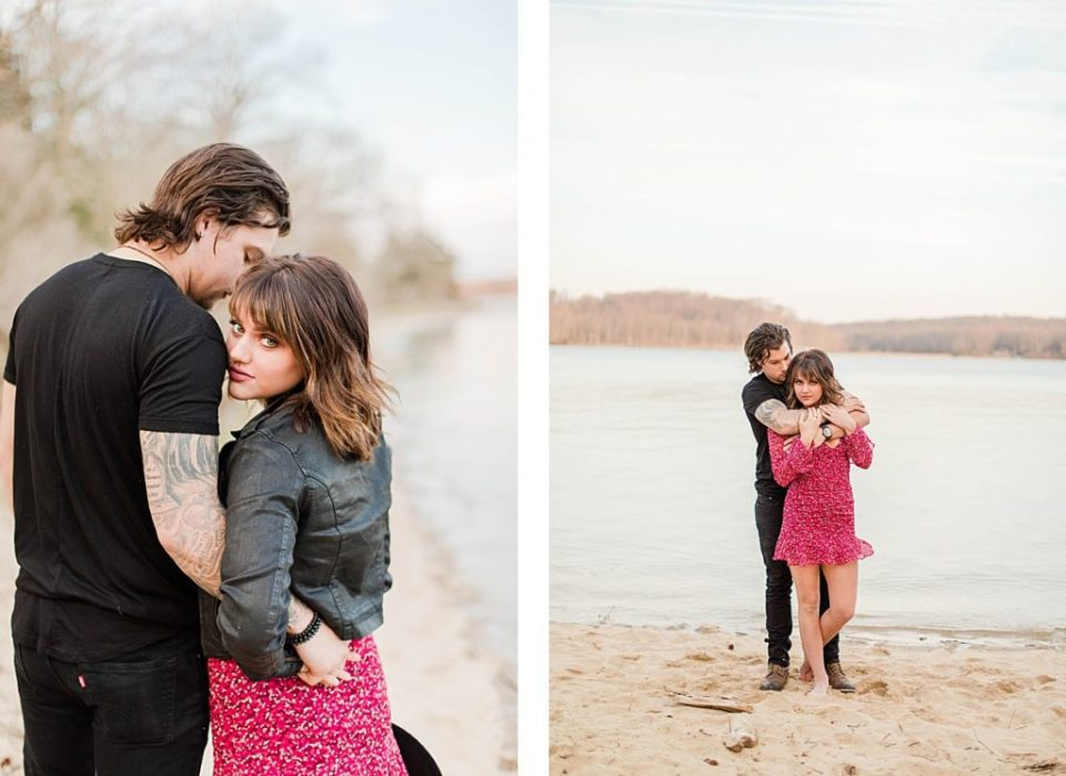 Romantic Engagement on the beach in Southern Maryland by Costola Photography