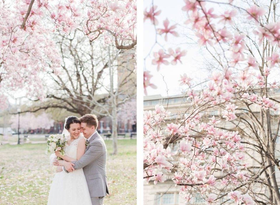 Spring Cherry Blossom Wedding at Decatur House in Washington D.C. Wedding