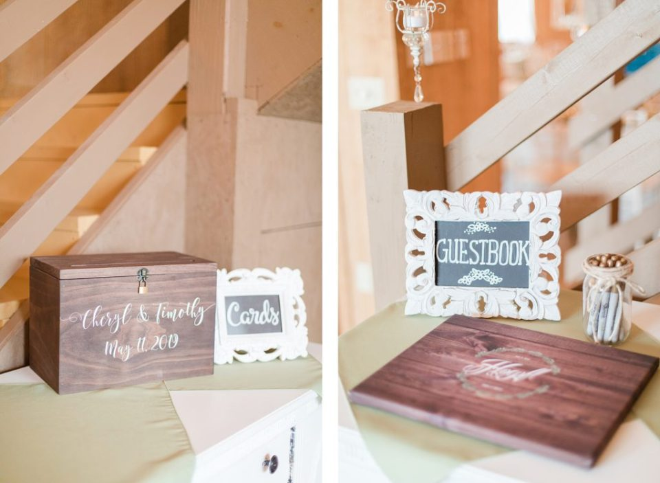 olive and blush reception at flora corner farm photographed by costola photography