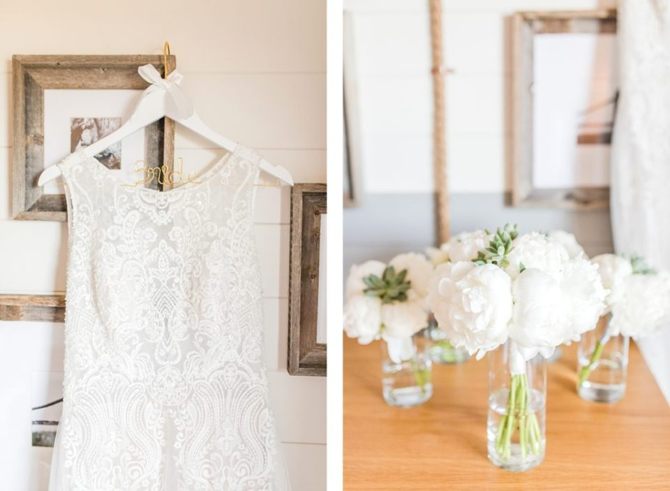 Wedding Dress hanging in the Beach House Resort by Costola photography