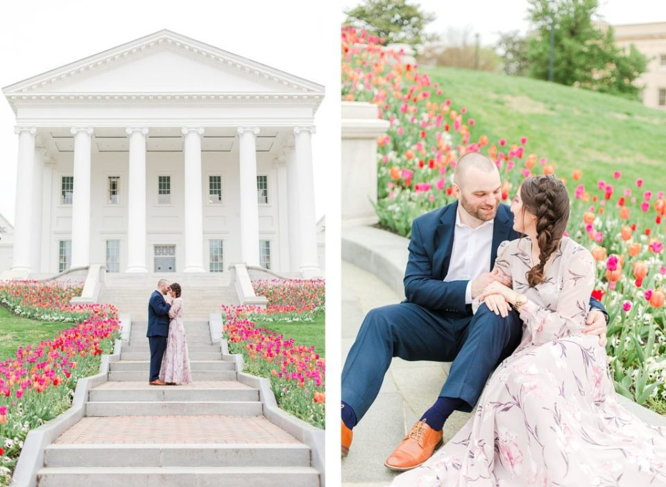 Virginia State Capitol Engagement Session in Downtown Richmond Virginia by Costola Photography