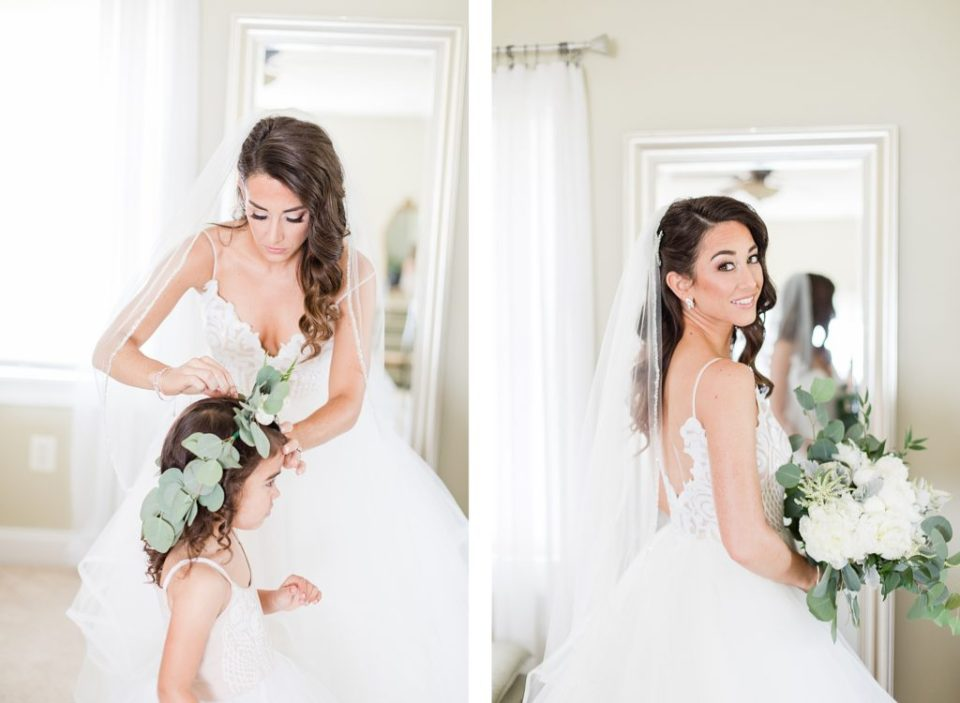 bride and daughter getting ready by costola photography