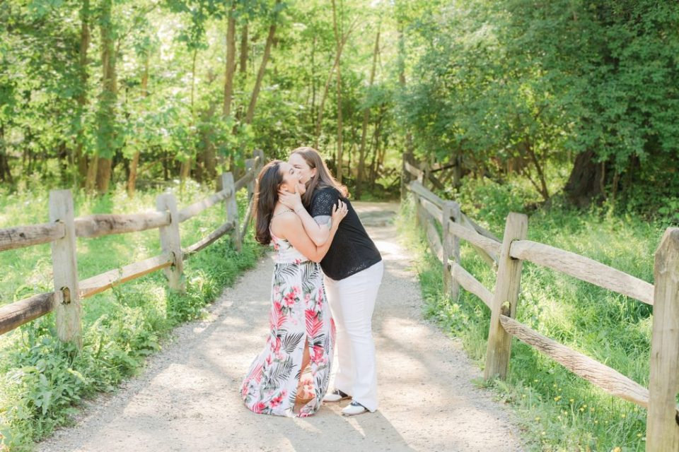 Same-sex Engagement Session at Great Falls Park by Costola Photography