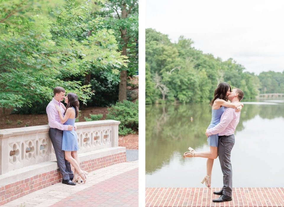 Couples Engagement Session at the University of Richmond by Costola Photography